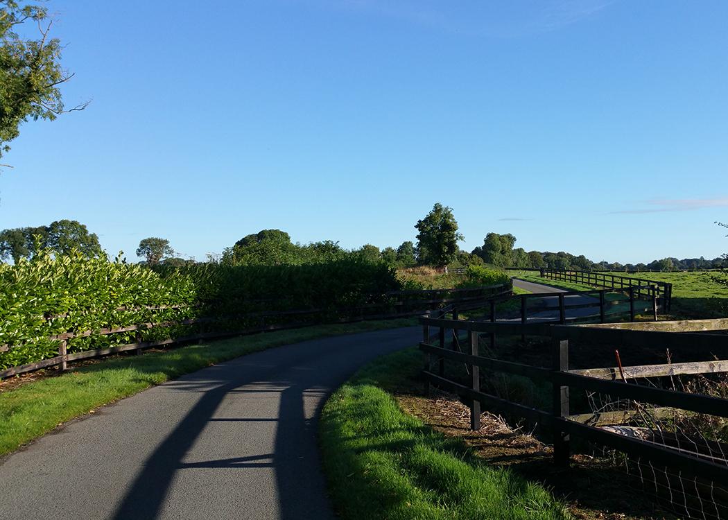 Boyne View winding lane