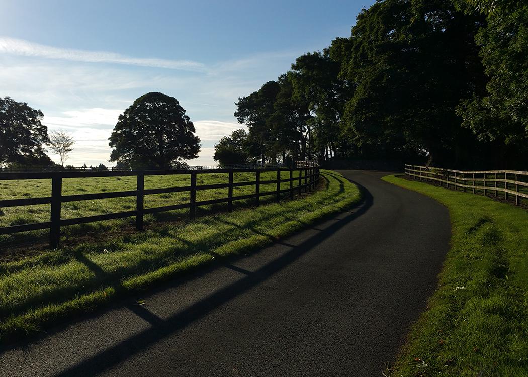 Boyne View towards main house