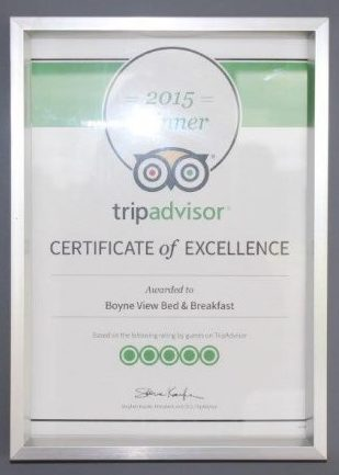 Boyne View Bed and Breakfast Exterior Tripadvisor Certificate of Excellence 2015
