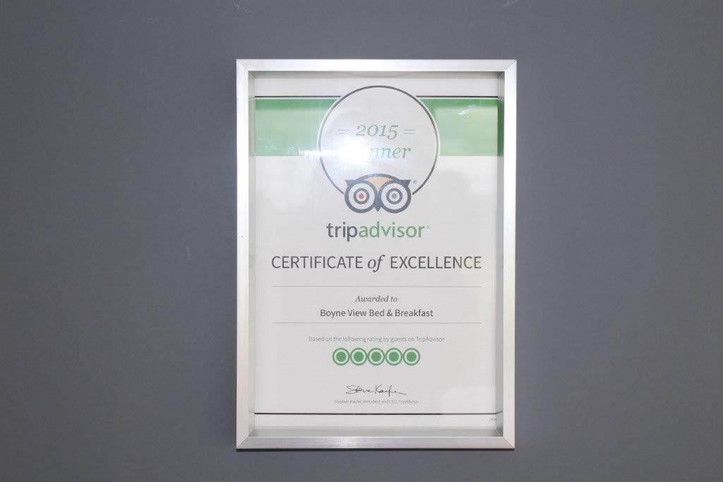 TripAdvisor Excellence Award 2015